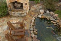 fireplace stone garden