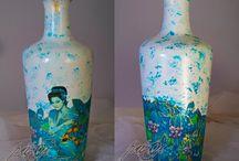 Vase / decoupage