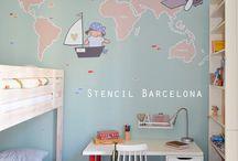 Mapamundis / Decorar la habitacion infantil con un mapamundi es una opción tan didáctica como decorativa