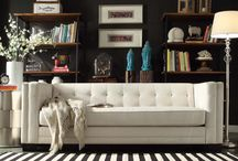 Black and White Interior / Black and white is classic, timeless, and never boring. A high contrast design scheme comes in all shades and styles. Find yours right here!