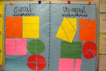 Math - Grade 2 - G1-3 - Geometry / Reason with shapes and their attributes. G1 - recognize shapes, G2 - partition and count squares, G3 - partition into halves, thirds, and fourths