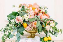 Apricot-yellow summer wedding