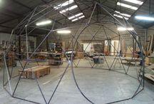Prototype de dôme géodésique / Test de notre prototype de dôme géodésique de 30m2 (type UG30)