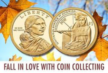 Fall Favorites / Leaves, pumpkins and coins, of course! Check out our new fall catalog to see our latest coins and collectibles!