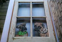 Love to Paint / Hand Painted Antique Windows