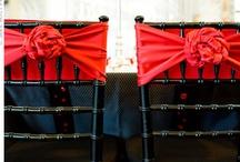 Red and white wedding / Lavish Italian castle project
