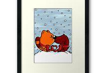 Framed Design Prints - Comic Style