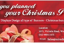 Banners / Banner is the effective way to drag the attention of customers. Mira Displays gives you wide variety of banners, Outdoor banner, Christmas banner, Party banner, Mesh Banner, Backlit banner, Outdoor vinyl banner and so on.