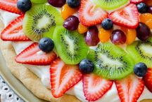 Cookie fruit tray