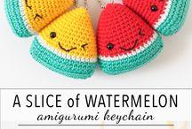 Crochet fruit&food