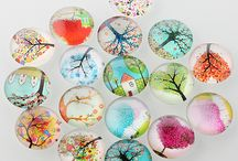 Glass Ready Made Cabochon