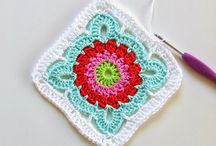 Crochet Squares / Crocheted squares for blankets and dishcloths. / by Debbie McLeod