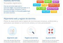 Servicios / Información relacionada con los servicios de alojamiento web y registro de dominios