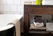 Rustic bathroom flooring