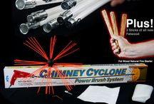 Chimney Cyclone Power Chimney Sweep / 6/7/8/9/10/11/12/13/15 metre chimney/flue rod cleaning set. Use your electric drill to power sweep your chimney clean.