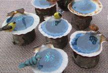 Bird bath ideas for miniature gardens