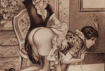 """Matée par le Fouet (1930) / """"Matée par le fouet"""" (1930) de Jean Martinet [pseud.] (Éditions Prima); histoires de flagellation et de dressage. Ilustrations hors-texte de Herric."""
