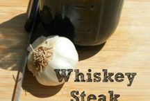 bOoZy Food Recipes / Cooking with everything boozy!  Whiskey, Beer, Bourbon, or what ever adds a boozy punch to your food recipes. Think BBQ, desserts, meats, or appetizers with a punch.