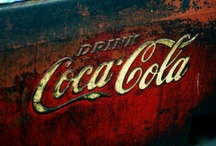 Coca-Cola  / It has to be the red colour--I just love the look of Coca-Cola signs, trucks, and other 'stuff.'  [Please Note: My intent is to share photographs with other Pinterest users, not to violate any copyright laws. I will remove any photograph or image from my boards if the original owner of the photograph or image does not wish to have his or her work displayed in Pinterest.]