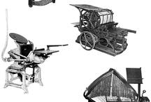 Typography / Old Printing press, LAKONIA newspapper 1878.