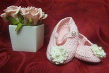 Sapatinhos de bebé / Sapatinhos em crochet para bebé (baby shoes crochet)