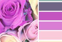 Paletas de colores / Preciosos colores que nos sirven de fondo y para hacer un montón de diseños