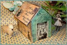 Houses-ceramic, papier