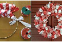 ribbon wreath ideas / by Megan Landis