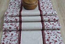 Bordo variacie - bytový textil - home textiles