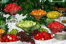 Buffets de frutas.