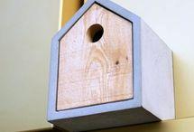 IDB Concrete Birdhouse Ideas