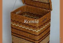 плетеная корзина для белья с рояльными петлями