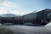 """Tramway Russia One / Découvrez notre coup de coeur design de la semaine : le nouveau tramway Russia One (R1) qui a été inauguré en juillet dernier au salon des expositions d'Innoprom à Ekaterinbourg et qui avait été surnommé """"Iphone sur rails"""" par les visiteurs."""