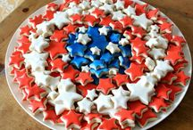 4th of July food and decorations