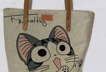 """Текстильная сумка """"Тake the cat"""""""