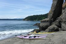 Beaches and Kayaks ... exploring the shores of Galiano Island / Incredible scenery enjoyed from the water: kayak through the waters surrounding Galiano; enjoy the wildlife in and on the water.