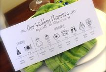 Invitation and paper staff for occasions