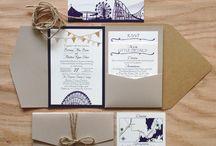 BM /DM wedding invitations / by Sienna Brulee