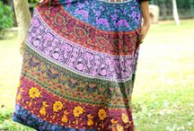 multi color skirts