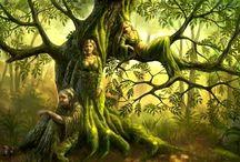 Kvinnor i naturen