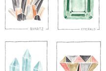 what a gem / Geometric gem inspired decor modern bright angular furniture color palettes and prints