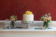 WEDDING CAKE / EARTH COLORSウェディングケーキのボード