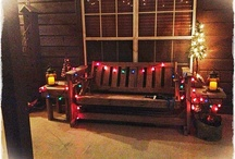 My Ranch, Christmas 2012 / Rustic decoration on my front porch / by Diane Bartek