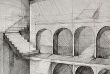 Architecture drawing / Architecture drawings of our students. Preparing for exams.