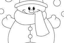tekeningen kerst en winter
