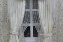 Cortinas / cortinas hechas de tela , y otros materiales