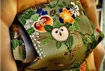 Kimono motives and fabric