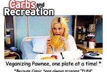 VeganMoFo 2014: Carbs & Rec / Veganizing Pawnee, One Plate at a Time!