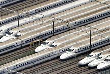 รถไฟในโตเกียว ประเทศญี่ปุ่น Tokyo, Japan