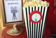 Movie Night Red Carpet Party Inspiration / DIY craft inspiration for movie night